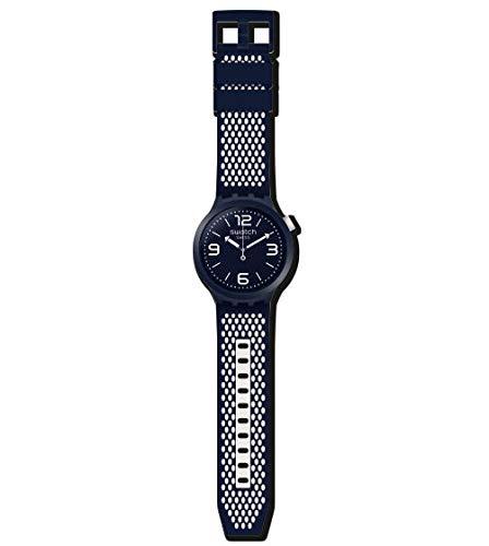 Swatch Reloj Analógico para Hombre de Cuarzo con Correa en Silicona SO27N101