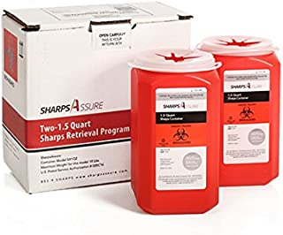 Two – 1.5 Quart Sharps Retrieval Program