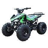 X-PRO 125cc ATV Quad Kids ATVs Quads 125cc 4 Wheeler Youth ATVs (Green )