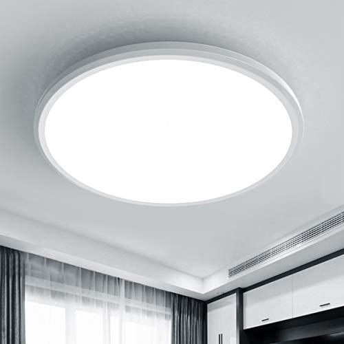 Wayrank LED Deckenleuchte Rund 15W, Modern Lampen Deckenlampen, Flurlampe Decke, Küchen Deckenlampe, Badezimmerleuchte, IP54 Wasserdicht, 6000K