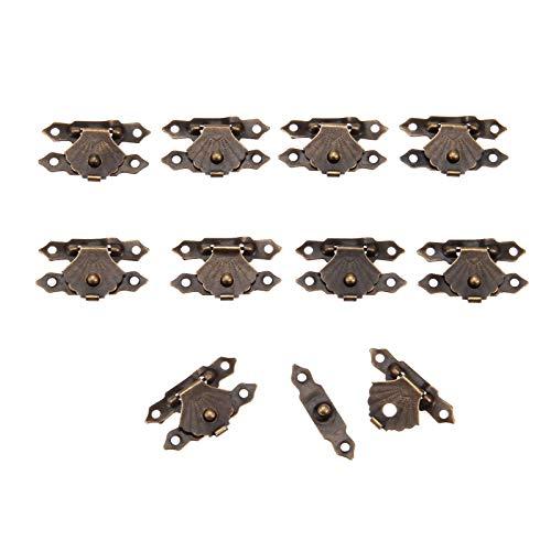10 Unids Caja de Cerrojos de hierro antiguo joyería candado cerrojo de madera vino caja de regalo bolso hebilla accesorios de hardware 30x18mm