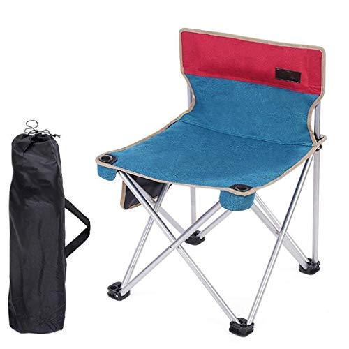 NBVCX Decoración de Muebles Silla Plegable para Acampar Asiento de Estadio portátil Acolchado liviano Ideal para picnics de Caminata con portavasos y Bolsa de Transporte (Color: Gris Azul)