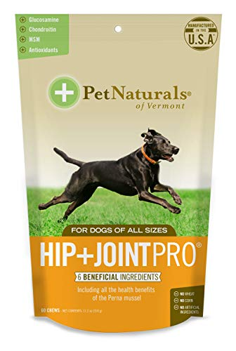 Pet Naturals of Vermont - Hip + Joint PRO, Daily Hip and Joint Supplement for Dogs, 60 Bite Sized Chews