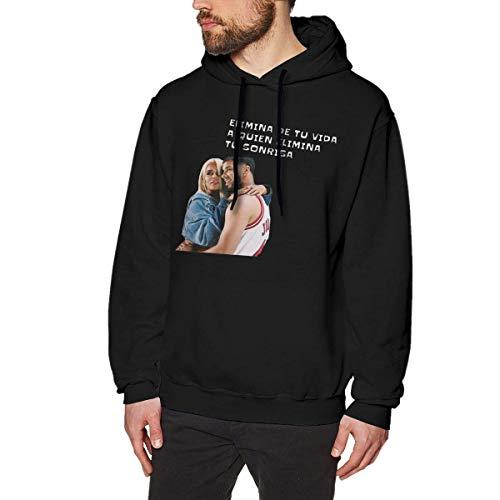 Ytdbh Men's Hoodie Pullover Karol-G Hooded Sweatshirt Cotton Sweater Black