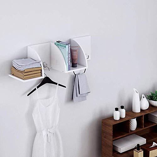 NA Hoofdslaapkamer-boekenkast-woonkamer-wand-rek slaapkamer-studie creatief boekenrek wandrek haak garderobestandaard, studenten-slaapzaal-boekenrek