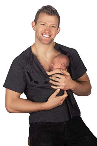DadWare Bondaroo Skin to Skin Kangaroo Care Bonding T-Shirt (Navy Blue, XX-Large)