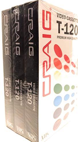 Buy Discount Craig Video Cassette T-120 Premium Blank VHS (3-Pack)