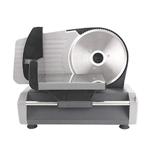 Elektrische Allesschneider, Premium-180W Brotschneidemaschine Elektrisch Aufschnittmaschinen Fleisch Schneidemaschine Meat Slicer Käseschneider Einstellbare Dicke,220V
