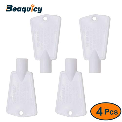297147700 Freezer Door Lock Key by Beaquicy - Replacement for Gibson Kelvinator Kenmore Freezers - Lock Key Kit for 4 Pack Set