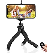 Phone Tripod 20 inch Phone Holder papasbox Tabletop Travel Portable and Flexible Tripod with 1//4 Mount Srew Portable Bag
