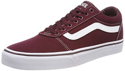 Vans Ward Canvas, Zapatillas Hombre Rojo Canvas/Port