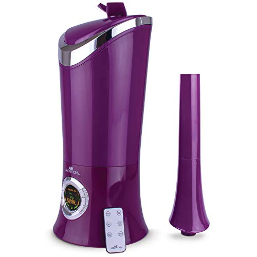 1.7 Gal. Cool Mist Digital Humidifier for Large Rooms, Up to 600 sq. ft., with Remote- Purple