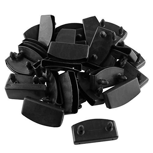 JCBIZ 30pcs 57x8mm Plastic Bed Slat End Caps Holders Plastic Connector Furniture Accessories for Holding Securing Wooden Slats Bed Base