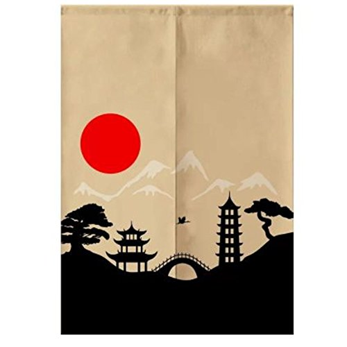 Sushi Bar Decoration Japanese Style Curtains Door Hallway Hanging Curtains 33.46x47.24 Inch (A11)