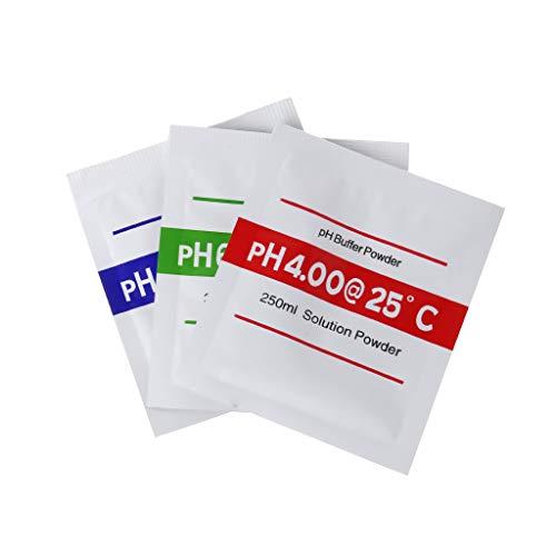 BIlinli 3 Teile/los PH Puffer Pulver Für Test Meter Messen Kalibrierung PH 4,00 6,68 9,18