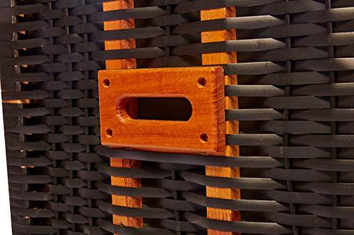 intergrill Strandschönheiten Marlene Ostsee Strandkorb 2-Sitzer Vollholzfront inkl Schutzhülle Verschiedene Dekor innen außen für Balkone Terrassen Wintergärten Garten Lounge KD2BBL - 6