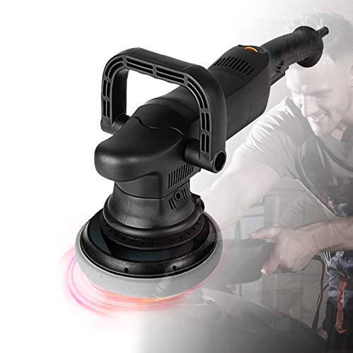 Eccentric Polish Machine, Adjustable Speed and Low Noise Waxer-polisher with Two Kinds of Handles, the Head Shell is Detachable, Which is a Good Partner for Cars,5in,2