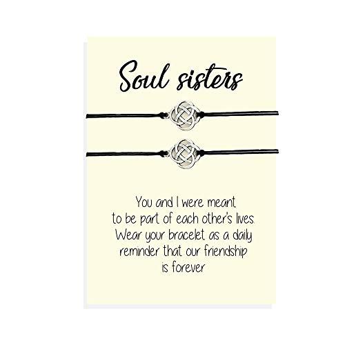 Soul sister bracelets for 2, Soul sister gift, Soul sister jewelry, Bff bracelet, Bracelet set, Friendship bracelet, Best friend matching bracelets Celtic knot