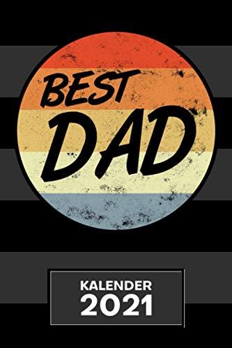 KALENDER 2021 A5: für Papa - Vatertagsgeschenk Terminplaner mit DATUM - Vatertag Organizer für Termine - Wochenplaner von Januar bis Dezember - 1 Woche auf 2 Seiten mit Kalenderwoche
