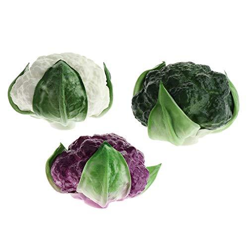PETSOLA Verduras Artificiales Falsas Simulación de Plástico Realista para La Casa, Cocina, Fiesta, Restaurante, Decoración, Gabinete, Ornamento, 3 Piezas