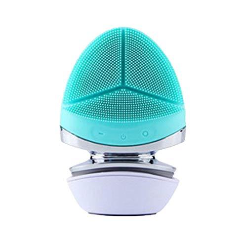 Jinclonder verbeterde gezichtsreinigingsborstel, waterdicht siliconen-elektrisch gezichtsmasker dieptereinigingsborstel, ontstekingsremmend, acne verwijderend en verkleurt pigmenten.