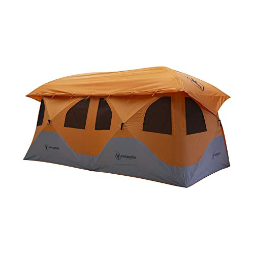 Gazelle T8 GT800SS Pop-Up Portable Camping Hub Tent, Easy Instant Set up in 90 Seconds, Sunset Orange, 8 Person, Family, Overlanding