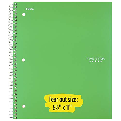 """Five Star Spiral Notebooks, 1 Subject, College Ruled Paper, 100 Sheets, 11"""" x 8-1/2"""", Green, Purple, 2 Pack (38451) Photo #2"""