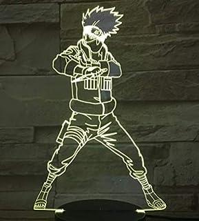 Naruto Goku 3D-lampa, nattlampa, 7 färgbyten, LED skrivbordslampa, pek, flerfärgad, USB-kraft som heminredningslampor, för...