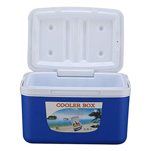 feiledi Trade - Nevera portátil, 8 L, para Exterior, para Pesca, para la Medicina, Alimentos Frescos, Transporte de frío, Blue