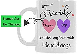Friends are Tied Together with Heartstrings Tea Cup White Mug Coffee Mug