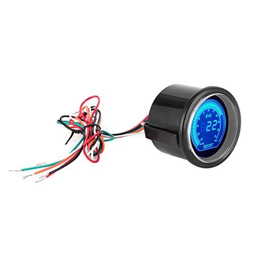 Tomanbery Medidor de tacómetro Universal del Motor, luz Azul roja, Pantalla LCD de RPM, tacómetro de Coche para Piezas de Repuesto para Coche de 12 V