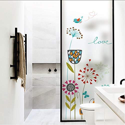 Djkaa raamsticker raamfolie bloemen plant patroon decoratie raamdecoratie statisch plakken