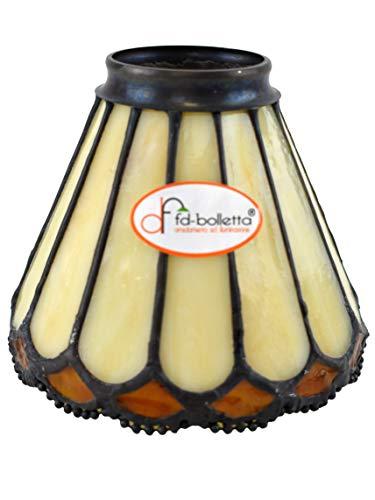 fd-bolletta arredamento e illuminazione Paralumi tiffany,vetro tiffany,vetro di ricambio vt8 Misure: H 10,5cm, Ø paralume 12,5cm, Ø esterno imboccatura 5,5cm