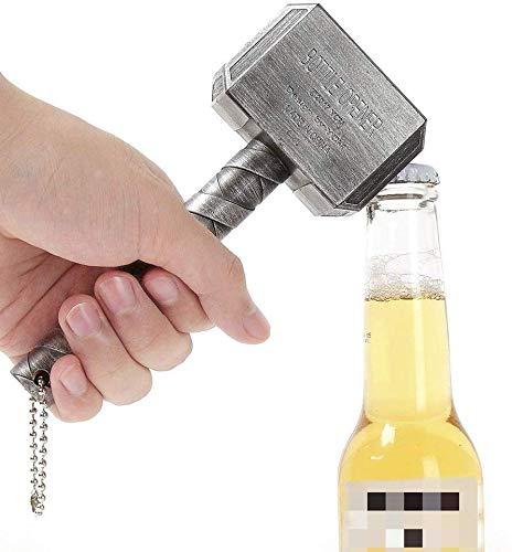 Mjolnir Quake Thors Hammer Bier Flaschenöffner mit Sound,Bier und Getränk Flaschenöffner, Perfekt für Bar und Haushalt,Marvel Avengers Gift,einem überraschten Stil (Silber(keinen Ton))