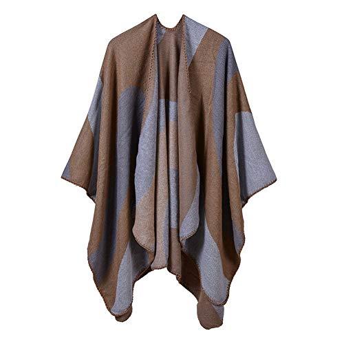 CHENGWJ sjaal sjaal Vrouwen Sjaal Winter Vrouwen Sjaals Lange Wrap Sjaal Dikke Warm Katoen Kasjmier Wol Poncho Effen Cape