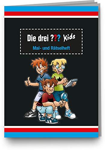 DH-Konzept Mal- und Rätselheft * DIE DREI ??? Kids * mit 12 Seiten in DIN A6   perfekt als Mitgebsel oder Geschenk   Malbuch Detektiv Detektive Malen Malblock Kinder Fragezeichen