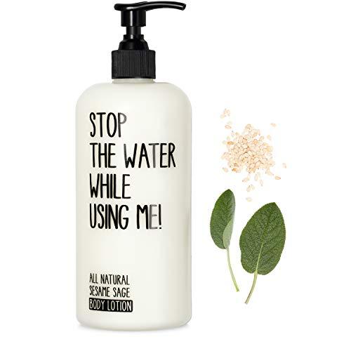 STOP THE WATER WHILE USING ME! All Natural Sesame Sage Body Lotion (200ml), vegane Körpercreme im nachfüllbaren Spender, mit Salbei und hochwertigem Sesamöl