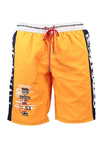 90X2 Geographical Norway Quino Herren Polo Badehose Badeshorts Orange Gr. M