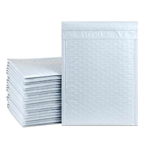"""UCGOU 6x10 Inch Waterproof Envelopes White Poly Bubble Mailers Pack of 50Pcs Padded Envelopes Boutique Custom Bags Shipping Envelopes Bags (usable size-6x9"""")"""