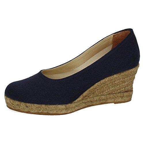 TORRES 4012 Zapatos CUÑA Esparto Mujer Alpargatas Marino 37