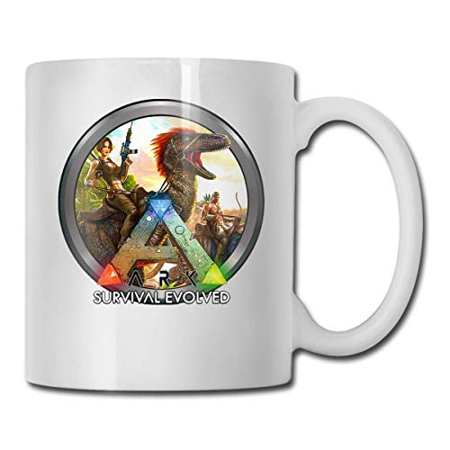 11 Oz White Ceramic Coffee Mug Ark Survival Evolved Icon Cups White