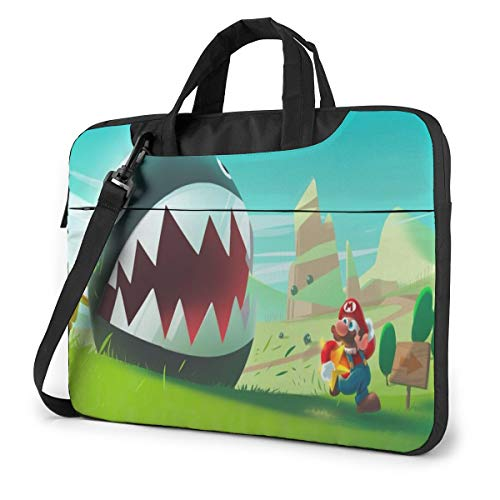 Super Mario Laptop Sleeve Case Handheld One Shoulder Shockproof Oxford Protective Case/Notebook Computer Pocket Case/Tablet Briefcase Carrying Bag Compatible-13 inch