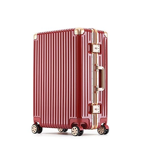 Trolley Case with Universal Wheels 24 Inches, Female Aluminum Frame Suitcase 20 Inches, Checked Luggage 29 Inches Male