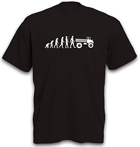 T-Shirt Evolution Unimog 406 Motiv Landmaschine Traktor Schlepper Trecker Truck Tractor Zugmaschine LKW Gr. L