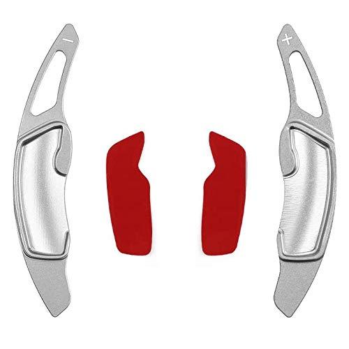 Aluminium Lenkrad Paddel Shifter Extension Ex für Subaru Forester Outback XV BRZ WRX Impreza Crosstrek Legacy GT86 Silber