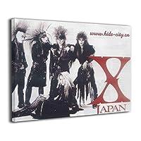 X-Japan アートパネル アートフレーム 壁飾り ポスター インテリア装飾 インテリアパネル インテリア絵画 リビング絵画キャンバス モダン 木枠付き 新築飾り 贈り物 40x50cm