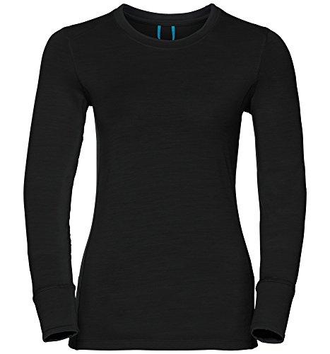 Odlo Natural T-Shirt Manches Longues de Course à Pied Femme, Noir, FR (Taille Fabricant : XL)