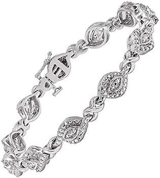 1/4 ct Diamond Tennis Bracelet in Brass