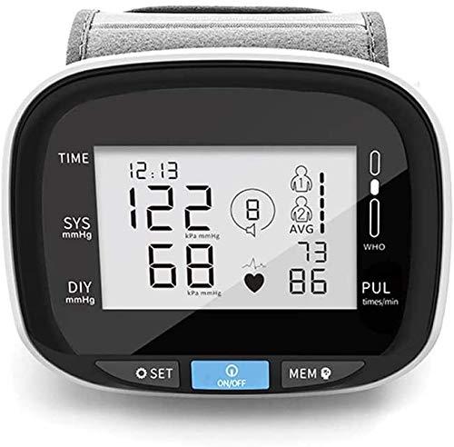 Beirich - Tensiometro digitale da polso per la pressione sanguigna, cardiofrequenzimetro, misuratore automatico
