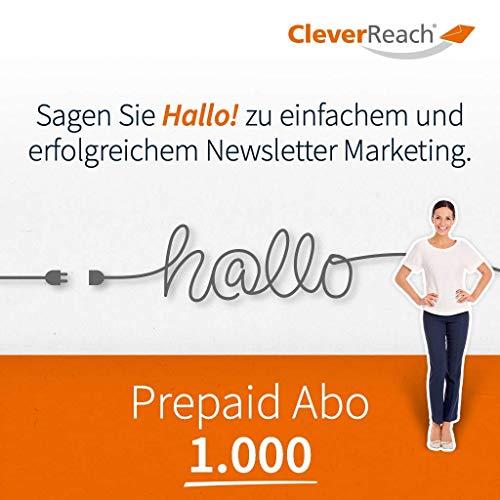 CleverReach Newsletter Software, Email Marketing Automation, Prepaid Abo 1.000,Web Browser, Kostenfreies Probeabo